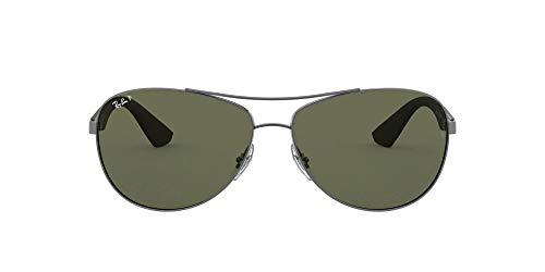 Ray-Ban Unisex Rb3526 Sonnenbrille, Grau (Gestell: gunmetal Glas: polarisiert dunkelgrün 029/9A), Large (Herstellergröße: 63)