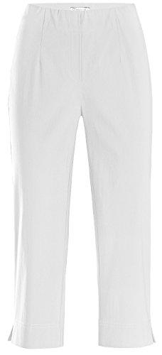 Stehmann Ina-530, Bequeme, stretchige Caprihose Größe 40, Farbe weiß