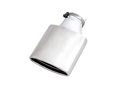 Universal Edelstahl Endrohr Auspuff Blende Oval 150x60x220mm Eintragungsfrei