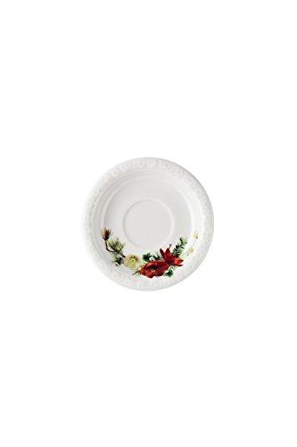 Rosenthal Maria Hiver Rose Moka/Expresso Soucoupe, Porcelaine, Rouge, 13 x 12 x 6 cm