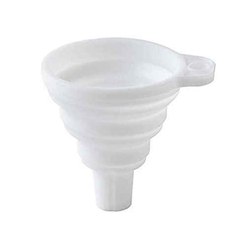 Yingyang Embudo de cocina de silicona plegable de boca ancha embudo multifunc filtro de aceite de especias de azúcar separador embudo de desvío de aceite de descarga herramientas de cocina (color 07)