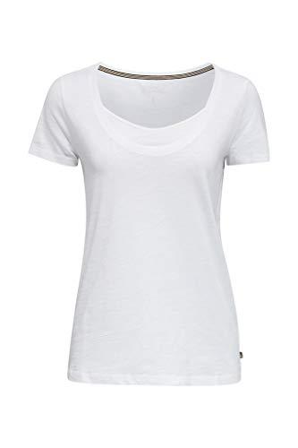 Esprit 040ee1k316 T-Shirt, 100/ Blanc, L Femme