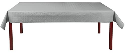 Discount Mariage - Rouleau Nappe Papier Damasse deperlant 25 et 50 métres Argent