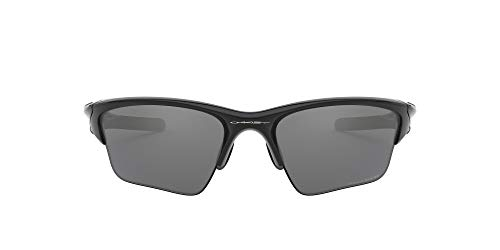 Oakley Half Jacket 2.0, Gafas de Sol para Ciclismo, Hombre, Polished Black Frame/Black Iridium Polarized Lens, 62 mm