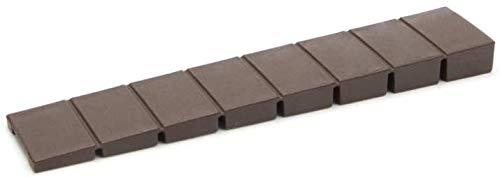 10 x sossai® Möbelkeile MKB-100 | Unterlegkeile/Ausgleichskeile aus Kunststoff mit integrierten Soll-Bruchstellen | Farbe: Braun