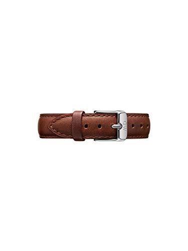 Daniel Wellington Petite St Mawes, Braun/Silber Uhrenarmband, 14mm, Leder, für Damen