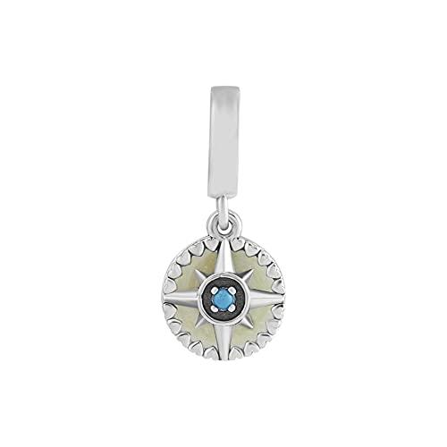 Pandora 925 Bead Silver Original Pulsera de plata esterlina Compas Rose Bead Perles Diy Jewelry