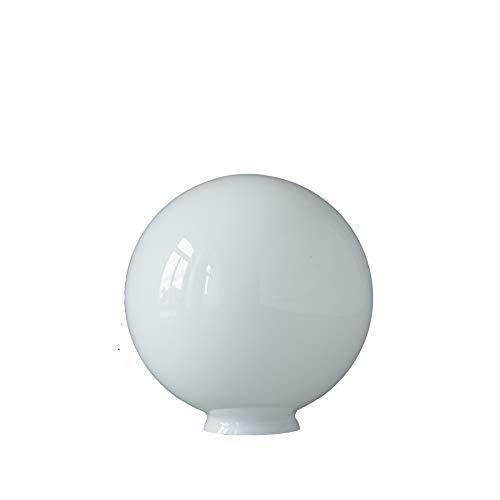 Bola de cristal de 25 cm, ópalo brillante con borde de 8 cm.