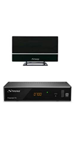 STRONG SRT 8541 Set DVB-T2 Receiver mit Antenne für freenet-TV (FullHD, HDMI, LAN, SCART, Mediaplayer, nur für DE geeignet) schwarz