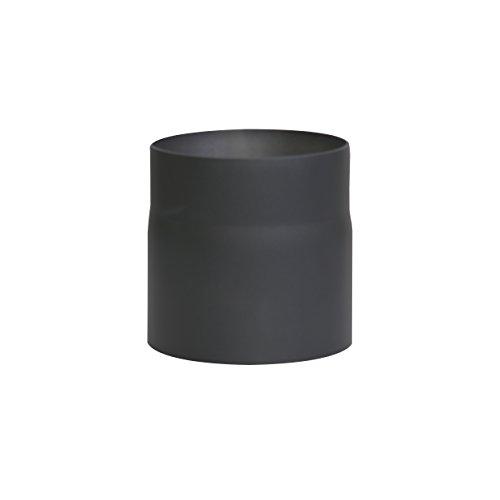 Kamino Flam Ofenrohr schwarz, Rauchrohr aus Stahl für sichere Ableitung von Verbrennungsgasen, hitzebeständige Senotherm Beschichtung, geprüft nach Norm EN 1856-2, Maße: L 150 x Ø 150 mm