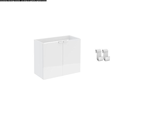 Bath + by Cosmic B-Box–Mobile 2Ante per Lavabo Bianco Lucido, 50cm