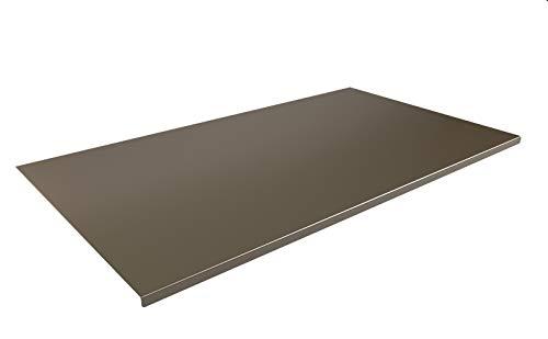 INOXLM Tagliere Spianatoia Piano di Lavoro in Acciaio Inox Varie Misure per Cucina per Bar per Ristorante per impastare (60x50 Piega 2 cm)