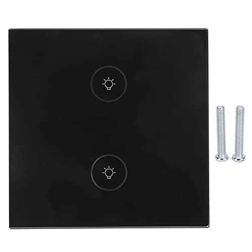 Interruttore Wi-Fi, Smart Switch per pannello touch leggero per casa per appartamento(Nero)