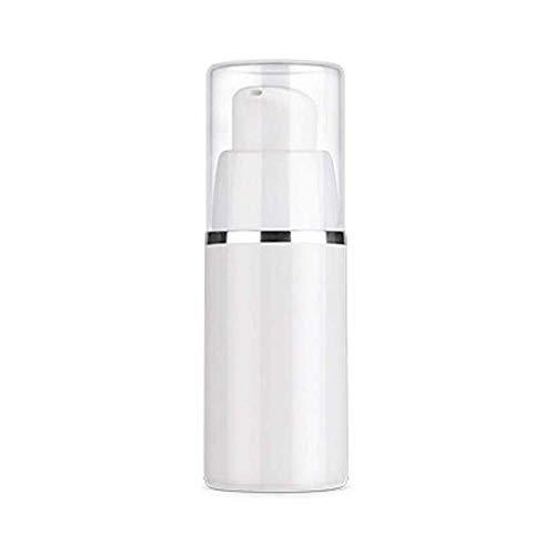 Beeria Plastic Travel Bottles PP Cylindrical Airless Bottle Split Bottles for Toiletries, Liquids, Cosmetics, Makeup (15/30/50ml)