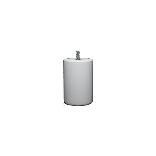 La Fabrique de Pieds Jeu de 4 Pieds de Lit, Bois, Laqué Blanc, 10 x 7 x 7 cm