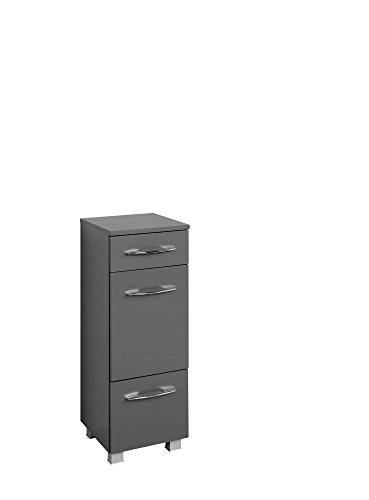 Held Möbel Portofino Unterschrank 30, Holzwerkstoff, Graphitgrau, 35 x 30 x 84 cm