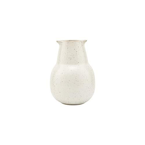 House Doctor, Flasche, Pion, Grau/weiß, Porzellan, h: 12 cm, Dia: 5.5 cm