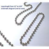 Asia Buy 4.5mm Blind Metal Bead Continuous Endless Chain Loop for Clutch Roller Shades (108