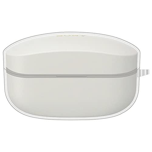 Aerku Hülle Kompatibel mit Sony WF-1000XM4 Kopfhörer [Unterstützt kabelloses Laden], Tragbares Case mit Karabiner, Anti-Kratzer Stoßfeste Schutzhülle - Transparent