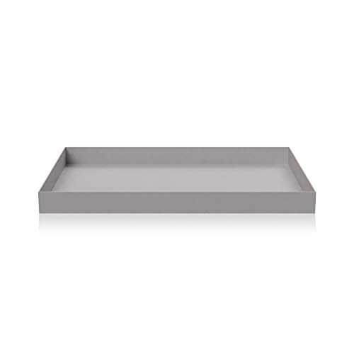Cooee Design Tray Tablett, Edelstahl, Grau, L : 24.5, B: 17.5, H: 2 cm