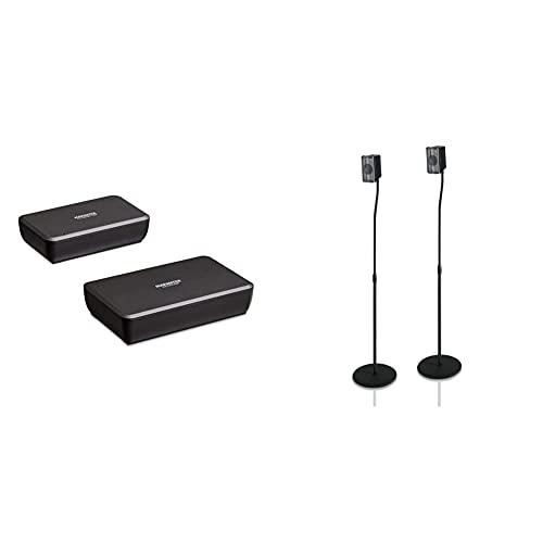Marmitek Surround Anywhere 221 Transmisor de Audio Digital conexión inalámbrica con Altavoces Surround + Hama 116211 Soporte para Altavoces, Negro