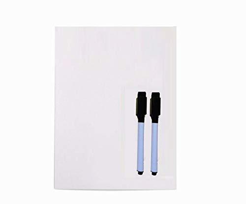 Anyiruo Pizarra blanca magnética flexible imanes de nevera seco pizarra blanca marcador borrador de la cocina Tablero de mensajes recordatorio inteligente bloc de notas