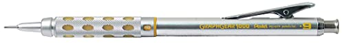 Pentel - Portaminas retráctil metálico calibrado.