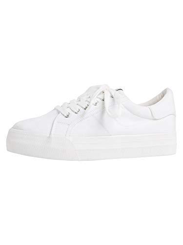 Tamaris Damen 1-1-23602-26 Sneaker Sneaker, Niedrig, weiß, 41 EU
