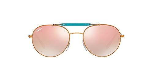 Ray-Ban RB 3540 Gafas de sol, Shiny Bronze, 56 Unisex-Adulto