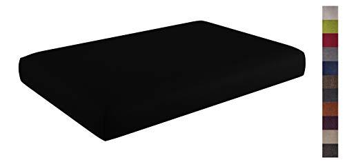 sunnypillow Coussin Assise pour Canapé Palette Intérieur/Extérieur Siège 120 x 80 x 15 cm plusieures Tailles et Couleurs à Choisir Coussin Matelas en Mousse Noir