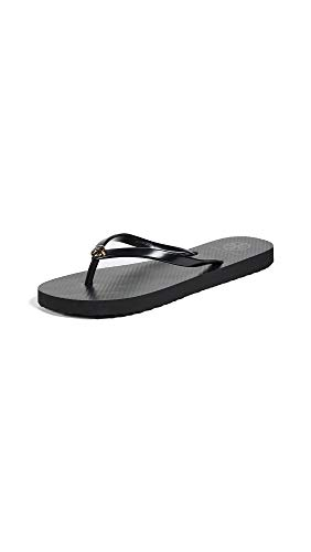 Tory Burch Women's Thin Flip Flops, Black, 7 Medium US
