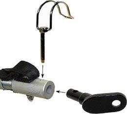 P4B Kupplung für Anhänger Ersatzkupplung Fahrradanhänger 14mm passend für Qeridoo mit Sicherungsstift Silber/schwarz