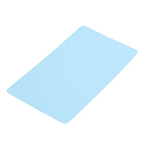 Weiy Blank Card Mini Flash Card Study with Binder Rings for Note Book,Blue