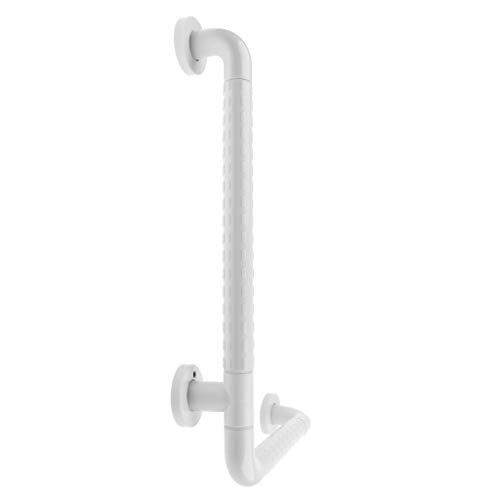 Hellery L Förmige Wand Badezimmer Dusche WC Badewanne Haltegriff Sicherheitshandlauf Werkzeug - Weiß