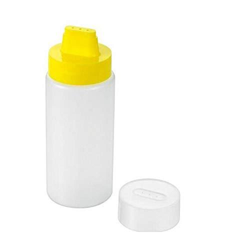 300 ml 4 fori tipo spremere salsa bottiglia di plastica di grado alimentare condimento bottiglia Ketchup marmellata olio oliva bottiglia strumenti (dimensioni: giallo)