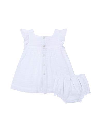 Gocco Dobby Vestido, Blanco (Blanco S07vvtca103wa), 86 (Tamaño del Fabricante: T: 12/18) para Bebés