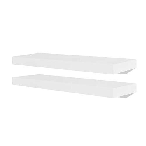 Wakects - Estantería flotante para libros, CDs y decoración, diseño moderno, decoración práctica para casa, 60 x 20 x 3,8 cm, 2 unidades