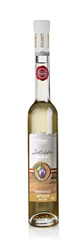 DOLOMITI Antiquus Alte Zwetschke aus dem Barrique-Fass │ Zwetschken Premium Spirituose 36% vol. │ fruchtiger, angenehm milder Zwetschken-Schnaps │ 0.7 Liter