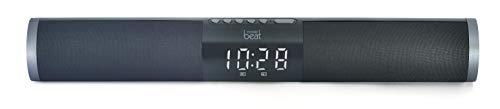 mobile beat CSS 1809 BT - Sistema de Sonido con Reloj, Bluetooth versión V5.0, Color Negro