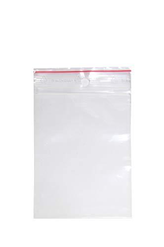 500 Stück Druckverschlußbeutel | 80x120 mm | DIN A7 | 50 mµ Stark| LDPE | Transparent | ZipLock | Flachbeutel (80 x 120mm 500 Stck.)