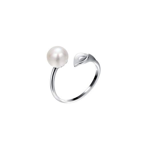 VIKI LYNN Damen Unisex - 925 Sterlingsilber Sterling-Silber 925 Süßwasser-Zuchtperle Perle