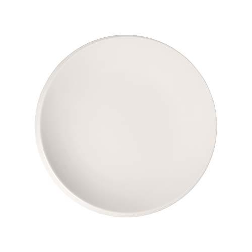 Villeroy & Boch - NewMoon Speiseteller, moderner Essteller für den Alltag und die Festttafel, Premium Porzellan, spülmaschinengeeignet, weiß, 27 cm