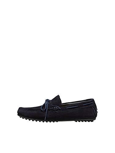 SELECTED HOMME Male Chaussures basses en daim - Bleu - bleu marine, 40 EU