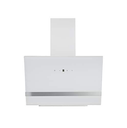 Respekta  Dunstabzugshaube Schräghaube Wandhaube Kopffrei Glas LED 60 cm Weiß