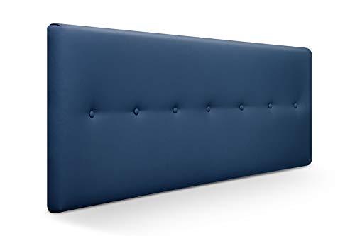 SUENOSZZZ-ESPECIALISTAS DEL DESCANSO Cabecero de Cama Dakota tapizado en Polipiel para Camas de 90 (100 x 57 cm) Polipiel Azul