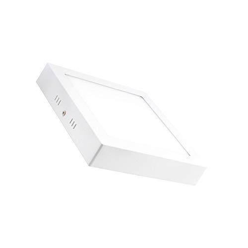 LEDKIA LIGHTING Plafón LED 18W Cuadrado Blanco Cálido 2800K - 3200K