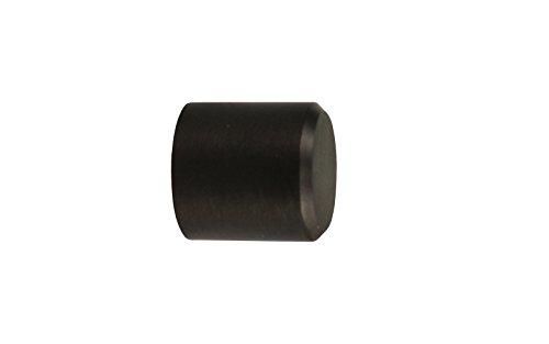 1 Paar Endstücke Kappe schwarz für 20 mm Gardinenstangen