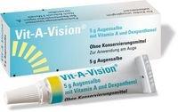 Vit-A-Vision Augensalbe Spar-Set 3x5g.Augensalbe mit Vitamin A, E und Dexpanthenol ohne Konservierungsmittel.Zur Verbesserung des Tränenfilms.Intensiver Schutz der Augenoberfläche bei trockenen Augen