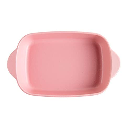 1 Piece Nordic Bakeware Binaural Baked Rice Bowl Baking Sheets Nonstick Oven Nonstick 9.5 Inches Pink