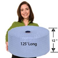 EcoBox 48-Inch x 100-Feet Biodegradable Bubble Roll with 3/16-Inch Small Bubbles (V-10018)
